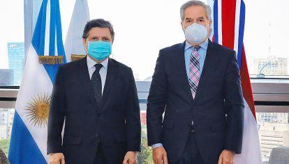 Apoyo. Felipe Solá recibió esta semana al canciller paraguayo.
