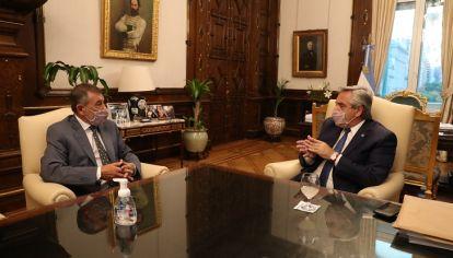 ALBERTISTA. Junto al presidente Alberto Fernández esta semana en Casa Rosada.