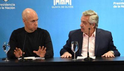 Rodríguez Larreta y Alberto Fernández, otros tiempos. Archivo.