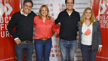 Maxi Abad y Gastón Manes, junto a su vice