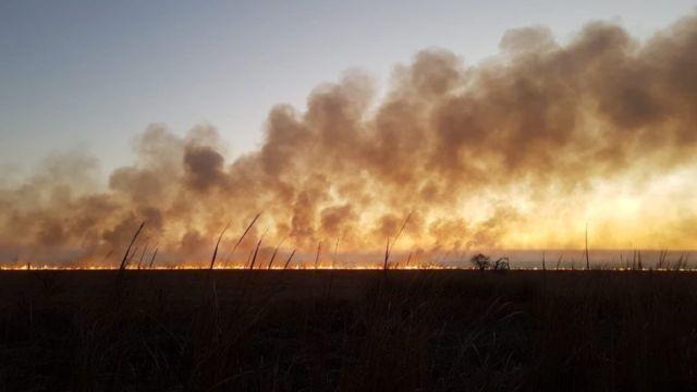 Incendios en la Argentina.