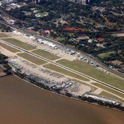 Así se ve hoy el Aeroparque Jorge Newbery de la Ciudad de Buenos Aires.