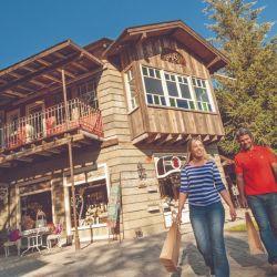 La arquitectura de Villa La Angostura tiende a la madera y a cierto estilo alpino.