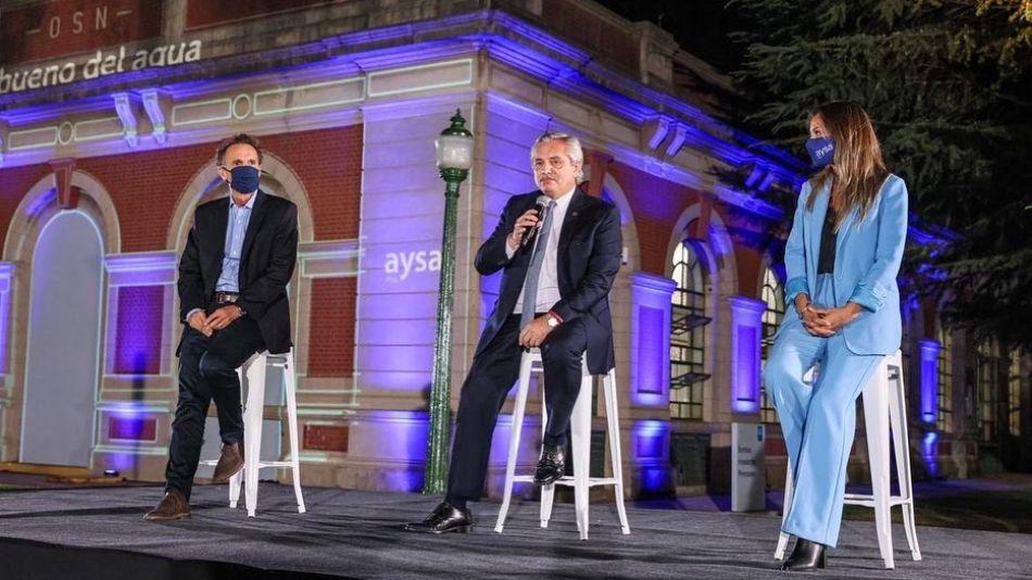 20210324 Malena Galmarini acto Alberto Fernandez AYSA