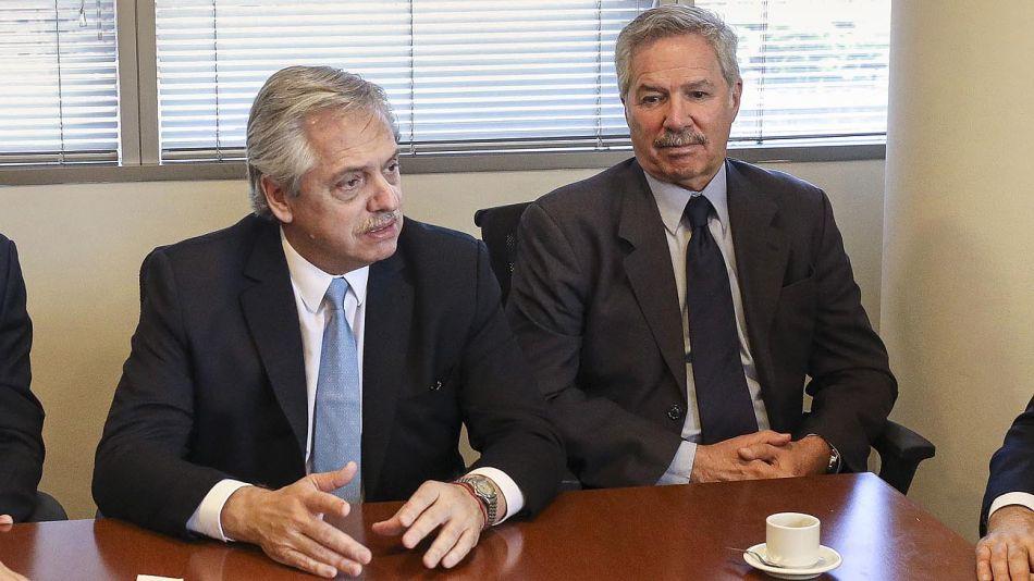 El canciller Felipe Solá y el presidente Alberto Fernández 20210324