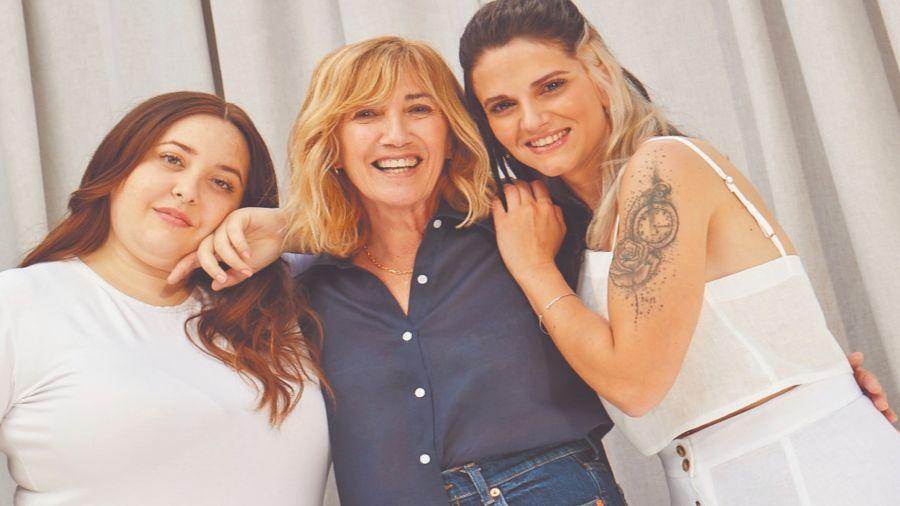 De izquierda a derecha, Brenda Mato, modelo y activista por la diversidad corporal; Victoria Viel, emprendedora solidaria, y Camila Levato, ilustradora y escritora.