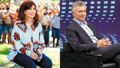 Cristina Kirchner y Mauricio Macri, en sus últimas apariciones públicas.