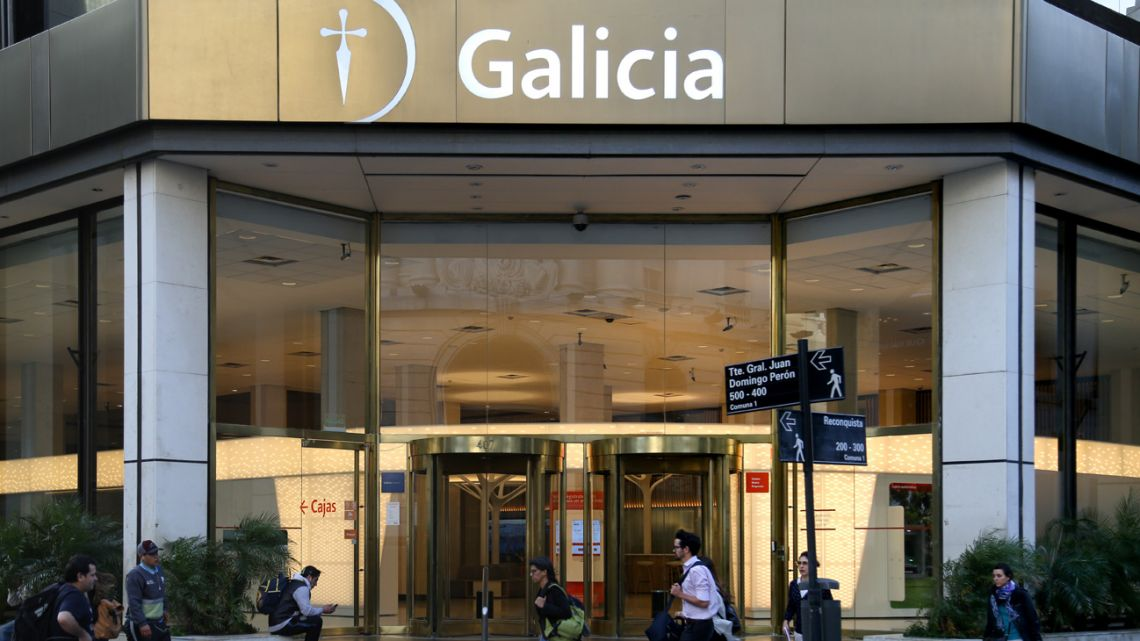 A branch of Banco Galicia.