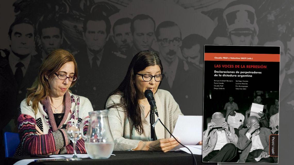 CONICET researchers Valentina Salvi and Claudia Feld.