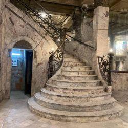 Trabajos de restauración de la Confitería del Molino.