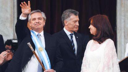 Trío. El Presidente, el ex y la vice, protagonistas de un tiempo de consolidaciones.