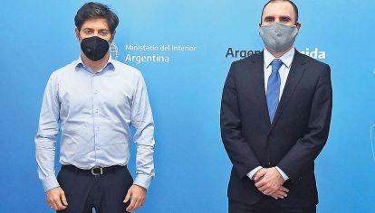 Dos miradas. Guzmán y el gobernador bonaerense son los cerebros económicos del Gobierno.