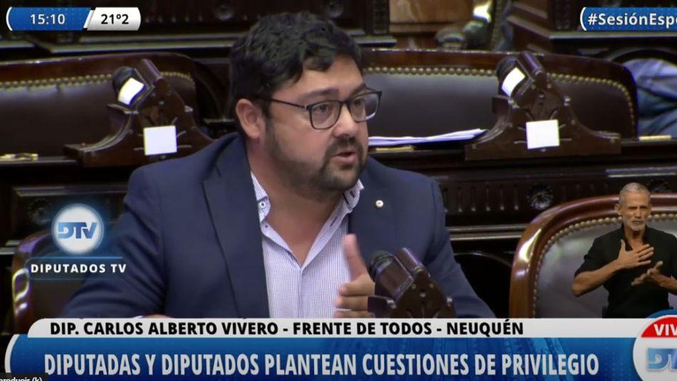 El diputado neuquino Carlos Vivero.