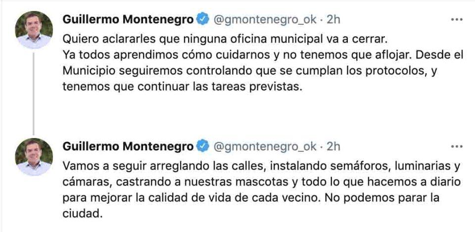 Guillermo Montenegro tuit teletrabajo
