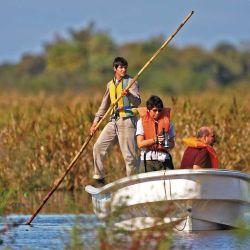 El botador: esa tacuara larga que se usa para empujar las embarcaciones en superficies bajas.  Es típico de los  esteros del Iberá.