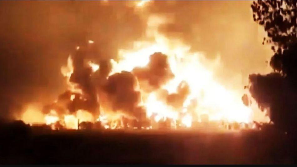 Incendio en Indonesia.