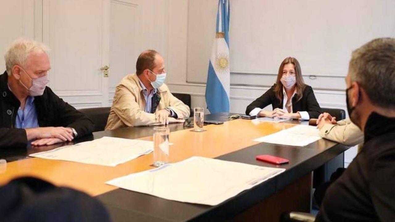 Frederic con intendentes del Frente de Todos esta semana.  | Foto:Ministerio de Seguridad