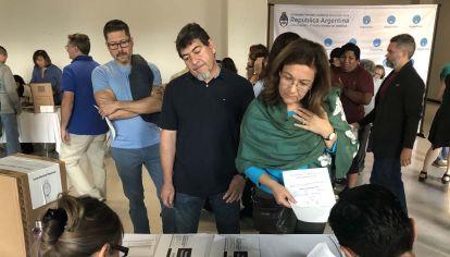 Voto de argentinos en el exterior.
