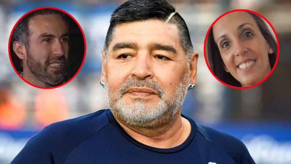Diego Maradona, Leopoldo Luque y Agustina Cosachov 31-3