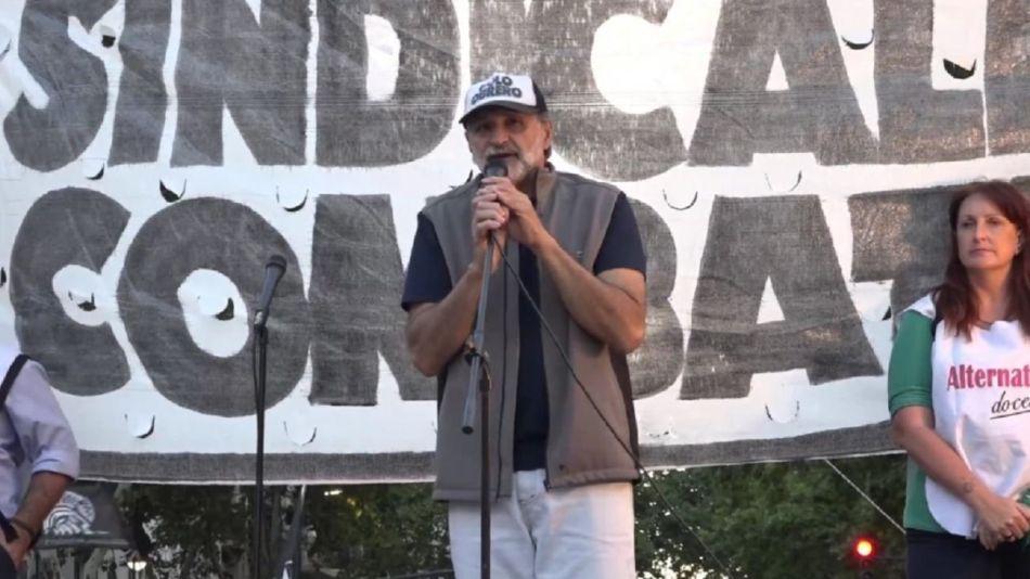 Eduardo Belliboni, lideró la protesta del Polo Obrero