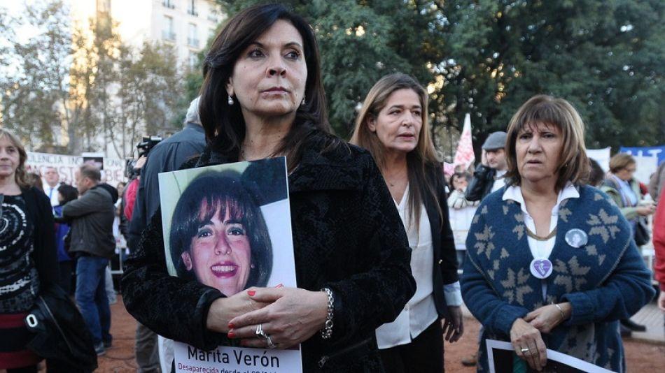 Susana Trimarco con una foto de su hija Marita Verón