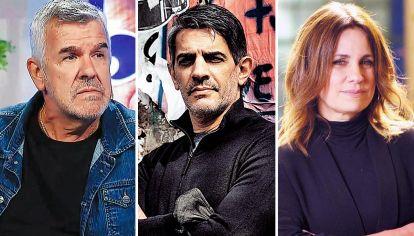 Actores. Dady Brieva, Pablo Echarri y Nancy Dupláa, interpretan la ficción del relato.