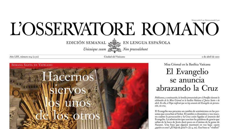 L' Osservatore Romano en lengua española 20210402