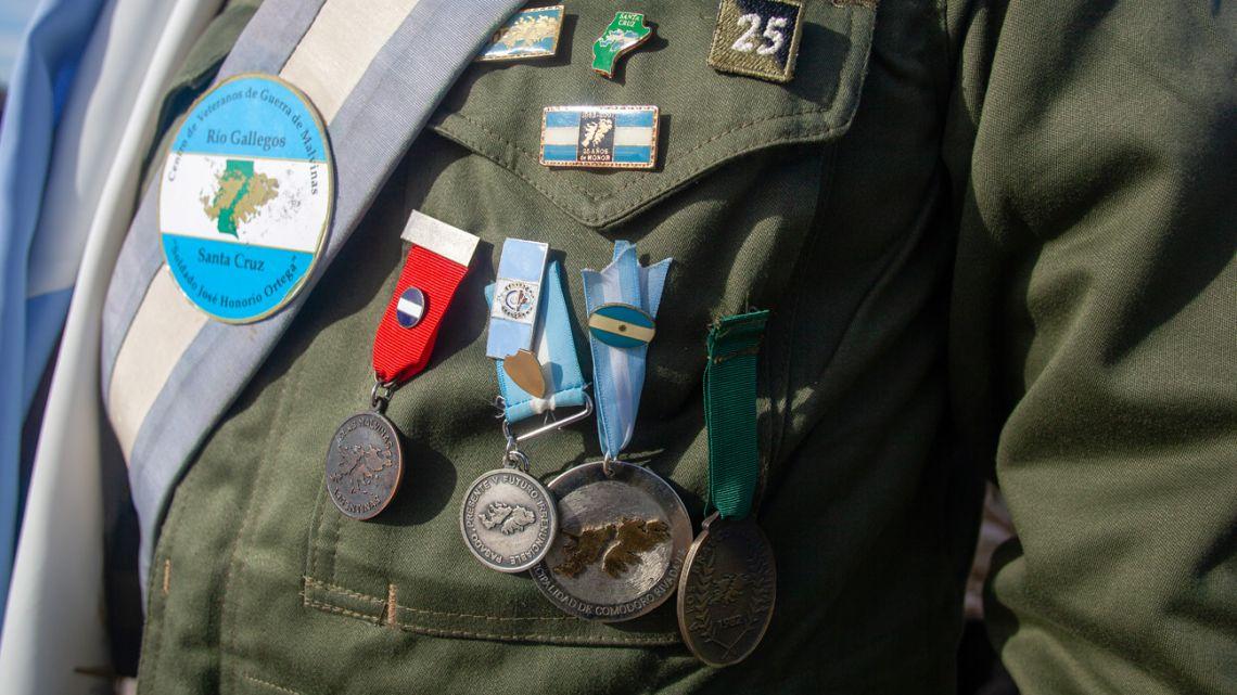 A veteran from the Malvinas war.