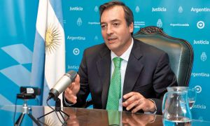 Martín Soria, ministro de Justicia.