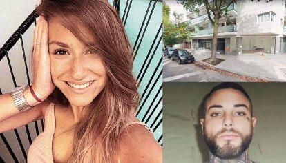 ¿Dónde está?. Patricio Reynoso, está siendo buscado por el femicidio de Pilar (izq.), asesinada el año pasado en un edificio de la calle Alagón al 300.
