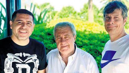 Trinomio presidencial. Riquelme, Ameal y Pergolini, cuando la convivencia parecía posible. La renuncia del empresario a la vicepresidencia demostró que no.