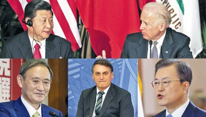 Beijing y Washington.  El primer cruce fue áspero. La tecnología es campo de batalla actual. Japón, Brasil y Corea del Sur, entre la política con Biden y los negocios con Xi Jinping.