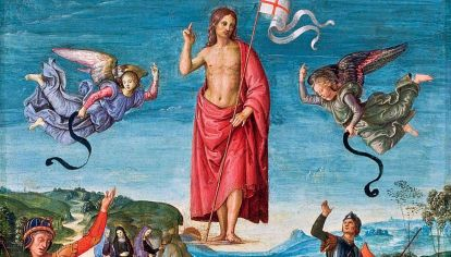 Resurrezione di Cristo. Óleo del pintor italiano Rafael Sanzio.