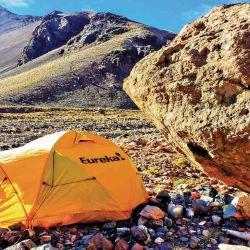 Campamento Base en la quebrada de Matienzo, a 3.300 metros de altura.