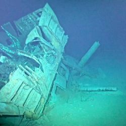 El USS Johnston se hundió el 25 de octubre de 1944 durante la batalla del golfo de Leyte.