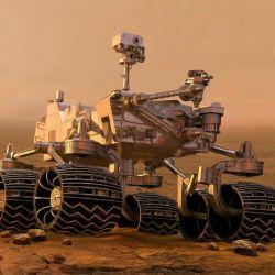 La piedra se mostró a través de un posteo de la cuenta oficial NASA's Perseverance Mars Rover.