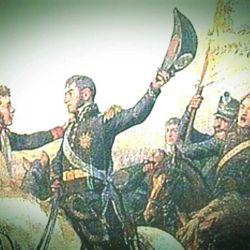 """Bernardo O'Higgins y José de San Martín en """"Abrazo de Maipú"""""""