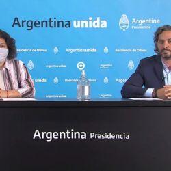 Carla Vizzotti y Santiago Cafiero