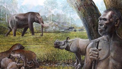 el hombre primitivo fue un superdepredador y comió sólo grandes animales durante 2 millones de años