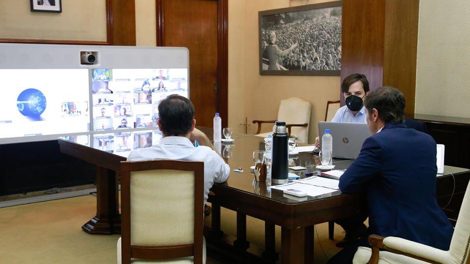 Kicillof en videoconferencia 20210405