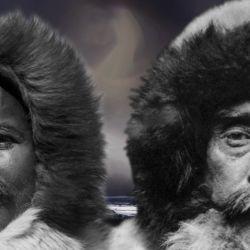 Matthew Henson junto a su gran amigo y jefe de la expedición al Polo Norte, Robert Edwin Peary.