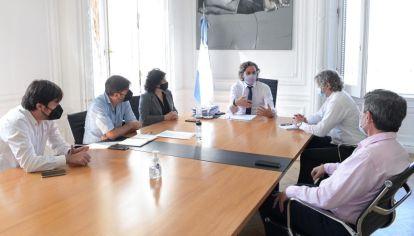 Reunión en Casa Rosada por restricciones frente al Covid-19