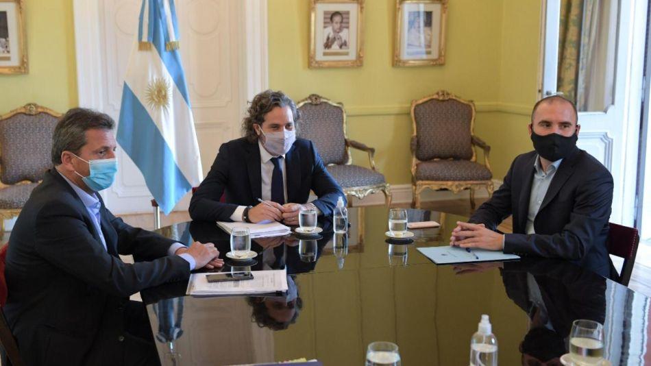 Cafiero, Massa y Guzmán, reunidos