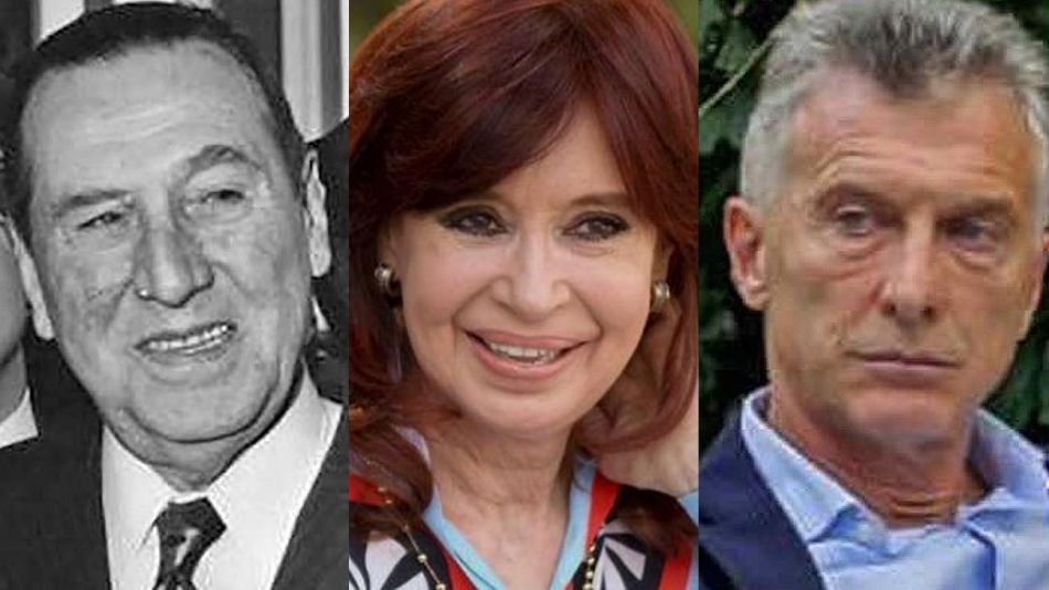 Juan Perón, Cristina Fernández y Mauricio Macri 20210406