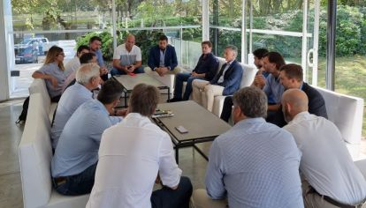 Macri con dirigentes bonaerenses