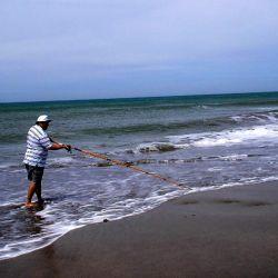 Generalmente hay dos tipos de fondos costeros: playa de arena o pedregullo, y rocas.