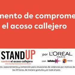 StandUp, una iniciativa frente al apoyo callejero.