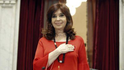 La vvicepresidenta Cristina Kirchner encabeza la sesión de la Cámara Alta