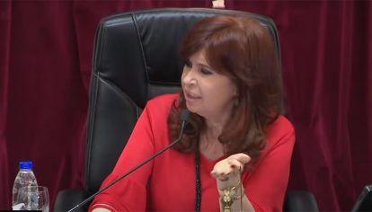 Cristina Kirchner en el senado