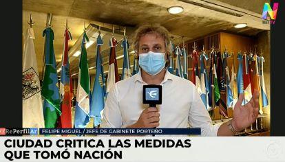"""Felipe Miguel: """"Estamos en contra de la restricción a la circulación pero la vamos a acatar"""""""
